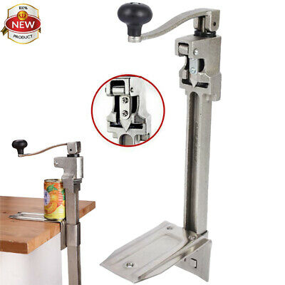 AU Ship HD Steel Large Commercial Can Opener Counter Bench Top Mount Cast Table