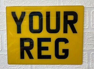 "Flexible Show Number Plate Enduro Flexi Reg 7"" X 5"""