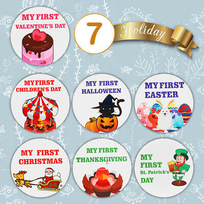 Toyvian 24PCS Self-Adhesive Creative Baby Month Stickers for Babies Baby Shower