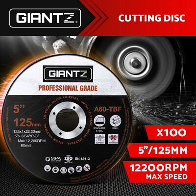 "Giantz 100 x 5"" Cutting Disc 125mm Metal Cut Off Wheel Angle Grinder Thin Steel"