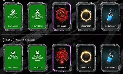 Rockstar Gears of War 5 Code - Limited Edition (x1 Code= One Tier/theres 5)