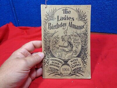 Antique 1904 Ladies Birthday Almanac Full of Quack Cures