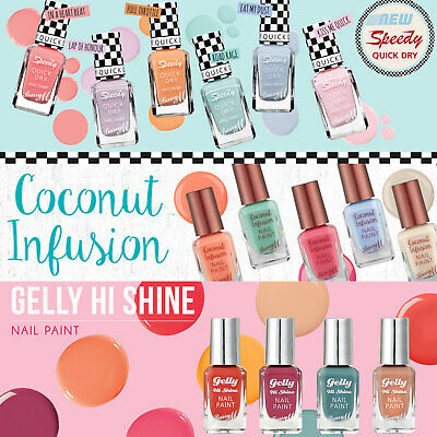 Barry M Nail Paint Polish Varnish Classic Matte Speedy Sunset- Choose Your Shade
