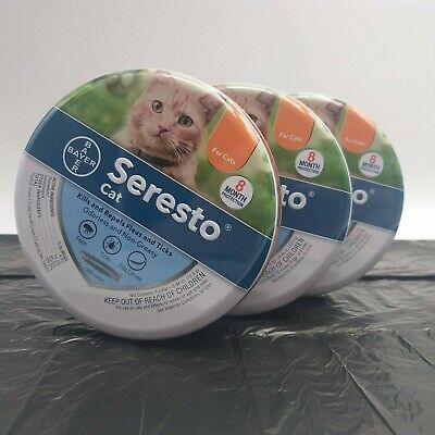 Seresto flea collar 3 pack cat flea and tick prevention 8 months fast shipping