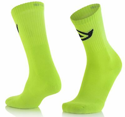 Acerbis MX Socken Cotton Fluo Gelb S/M Knöchellang