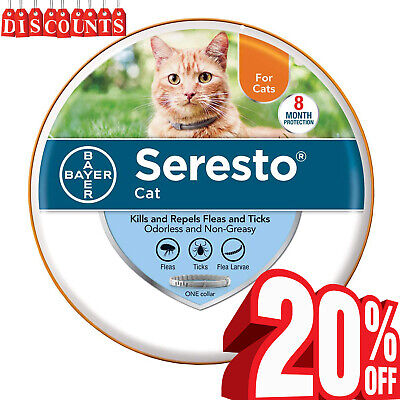 Bayer Seresto Cat Collar for Cats Against Flea & Tick 8 Month, Free Shipping