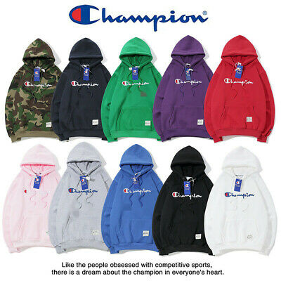 AU Champion Hoodie Unisex Classic Top Street Wear Jumper Sweatshirt Cotton