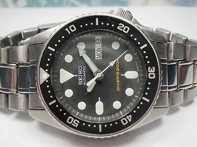 Seiko Day/Date Divers 200M Skx013 Automatic Midsize Watch 7S26-0030