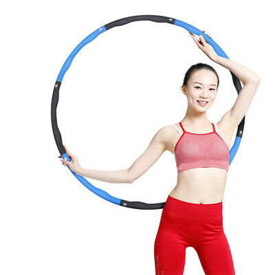 Collapsible 1KG Weighted Hula Hoop Fitness Padded Exercise Gym Sports Hoola UK