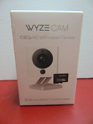 Wyze Cam v2 1080p HD WiFi Indoor Camera w/ 32GB MiceoSDHC Card (WYZEC2MSD32) NEW