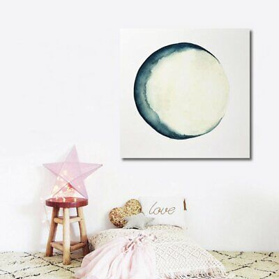 Eclipse Moon Modern Painting Canvas Wall Art Picture Paint Home Decor  IE