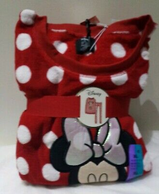 Ladies DISNEY MINNIE MOUSE Fleece Pyjamas Women's Girls PJs Primark UK 6 - 20