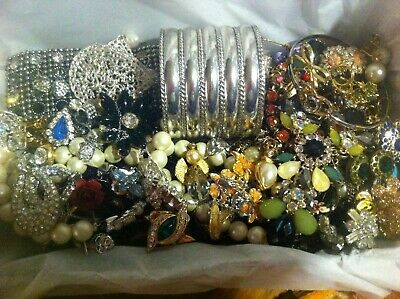 Vintage To Now Estate Find Jewelry Lot Junk Drawer Unsearched Untested Wear #220