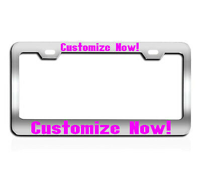Any Color text Holder Metal Custom Personalized Vinly or Laser license tag frame
