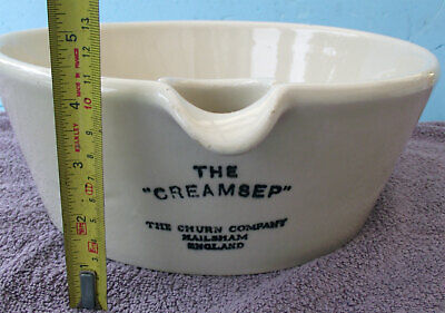 "ANTIQUE THE ""CREAMSEP"" The Churn Company Hailsham England, Doulton Lambeth"