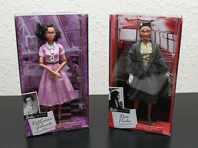 "Rosa Parks and Katherine Johnson ""Inspiring Women"" Limited Edition Barbie Doll."