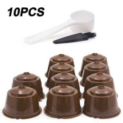 10Pcs Refillable Reusable Coffee Capsule Pods Cups For Nescafe Dolce Gusto Set