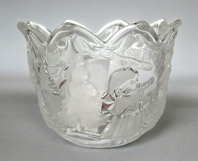 Home Beautiful by Mikasa Crystal Candle Holder Our Christmas Tree Frosted Votive