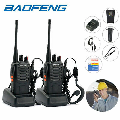 2 Pack Baofeng BF-777S UHF 400-470MHz Two Way Radios 5W Ham Walkie Talkie 16CH