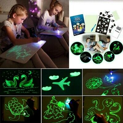 Draw with Light Fun Flashing Magic Painting Drawing Board Educational Kids Toy