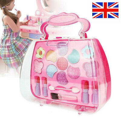 Washable Pretend Kids Make Up Gifts Set NON-TOXIC Makeup Case Box Toys for Girl