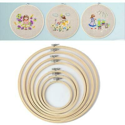 1 Set 8 Sizes DIY Bamboo Hand Embroidery Cross Stitch Tapestry Ring Frame Crafts