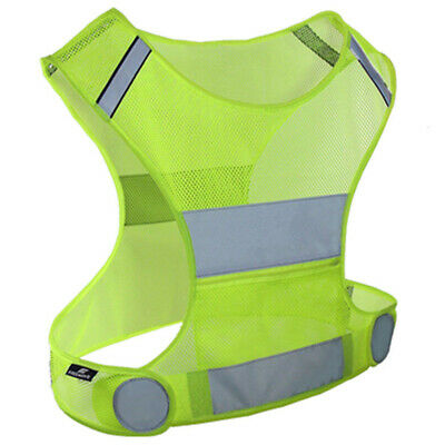 Yellow Reflective Safety Vest High Visibility For Sports Night Jogging Biking