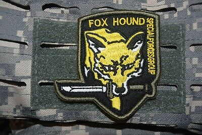 Z1069 écusson insigne patch militaire FOX HOUND SPECIAL FORCE GROUP AIRSOFT