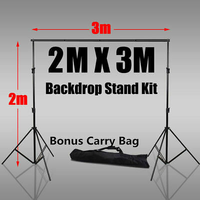 Photo Studio 2x3m Heavy-Duty Backdrop Background Support Screen Stand KIT+BAG UK