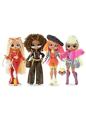 4 LOL Surprise Series OMG Fashion Dolls Set Royal Bee SWAG Lady Diva Neonlicious