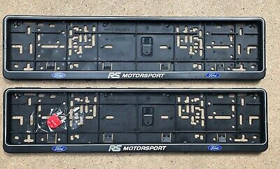 Ford RS Motorsport Number Plate Surround Frames (1 X Pair)