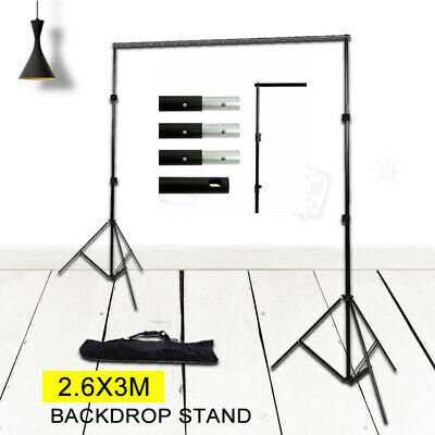 Background Stand Support System 2.6x3m / 8.5x10ft Kit, Carry Case Backdrop Stand