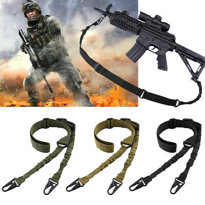 Tactical 2 Point Gun Sling Shoulder Strap Outdoor Rifle Sling With Metal Buckle