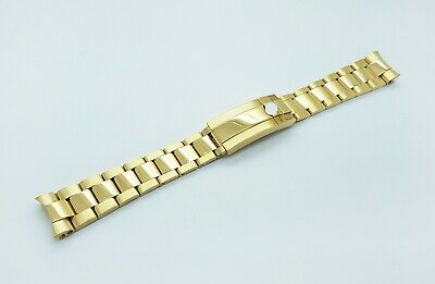 20mm Rolex Watch Stainless Solid Steel Replacement Bracelet Gold