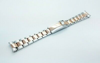 20mm Rolex Watch Stainless Solid Steel Replacement Bracelet Rose Gold/Silver