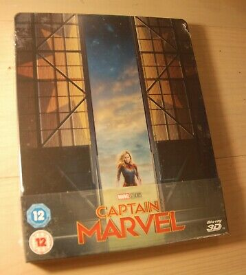 Captain Marvel 2D / 3D Blu Ray Steelbook UK Ltd Ed NEW SEALED Region Free
