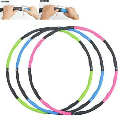 Collapsible 1KG Weighted Hula Hoop Fitness Exercise Gym Hoola Hoop for Home Work
