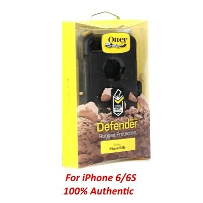 New OEM OTTERBOX Defender Series Case with belt clip for iPhone 6/6s - Black