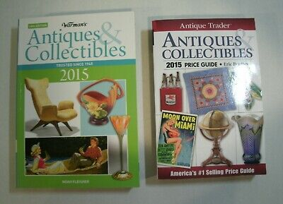 2015 Antique Trader & Warman's  ANTIQUES & COLLECTIBLES Price Guides *UNUSED