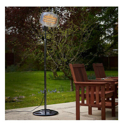 Standing Heater Electric Patio Outdoor Garden Heating Light 2kw Halogen Wall