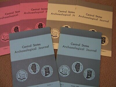 6 Early Copies Of The Central States Archaeological Journal 1957, 1958