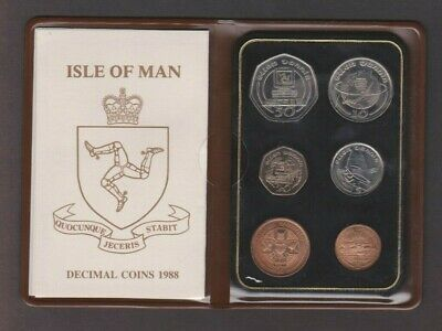 UNC 1988 ISLE OF MAN COIN SET - INC PERSONAL COMPUTER PC 50p - IoM MANX