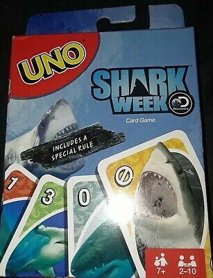(2019) Discovery Channel Shark Week UNO Card Game BRAND NEW With Special Rule