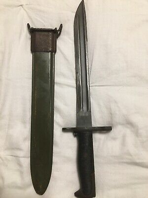 WWII US M1905 RIA 1908 Bayonet Converted To Bowie Cut M1905E1 By UFH M1 Garand