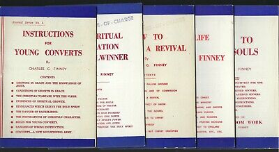 Charles Finney 5 x Pamphlets Booklets Revival Publishing Series Vintage