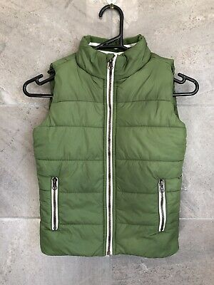 Kids Pumpkin Patch Green Puffer Vest Size 6