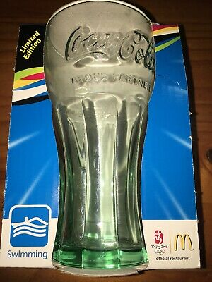 McDonalds Coca Cola 2008 Beijing Olympics Collectable Glass Swimming