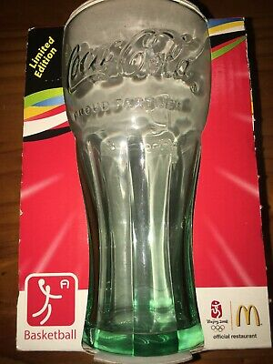 McDonalds Coca Cola 2008 Beijing Olympics Collectable Glass Basketball