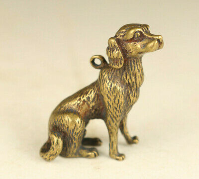 rare old bronze hand carved dog statue pendant decoration gift