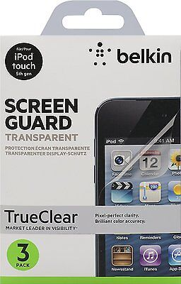 Belkin TrueClear Transparent Screen Protector for iPod touch 5th gen - 3 Pack